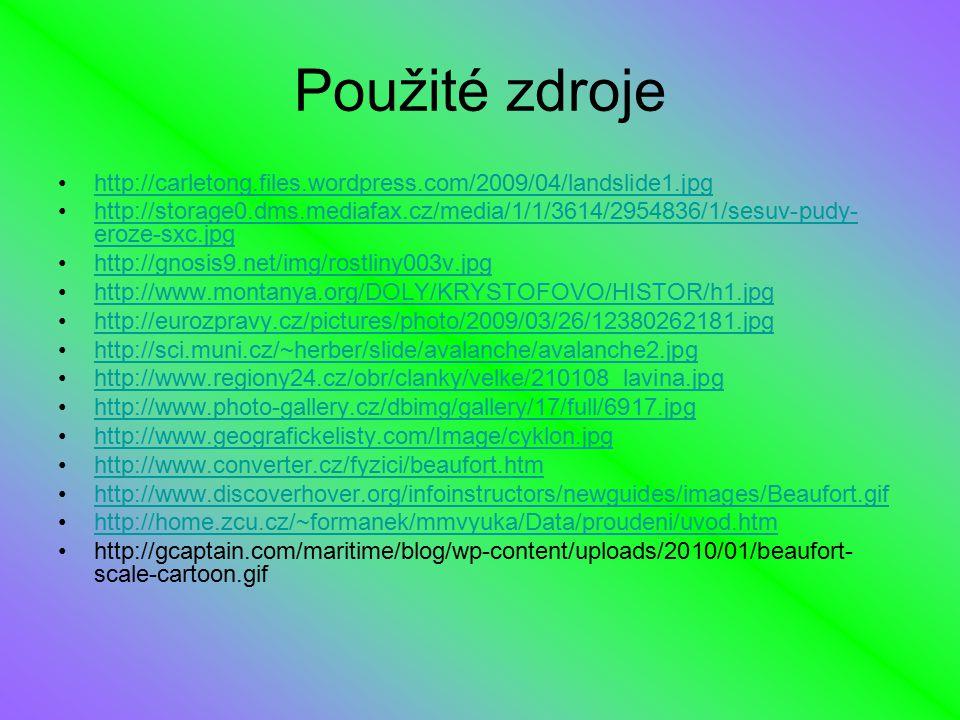 Použité zdroje http://carletong.files.wordpress.com/2009/04/landslide1.jpg http://storage0.dms.mediafax.cz/media/1/1/3614/2954836/1/sesuv-pudy- eroze-