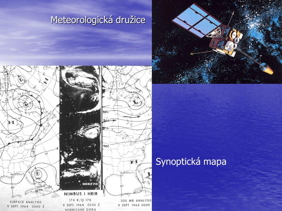 Meteorologická družice Synoptická mapa