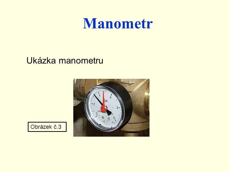Manometr Ukázka manometru Obrázek č.3