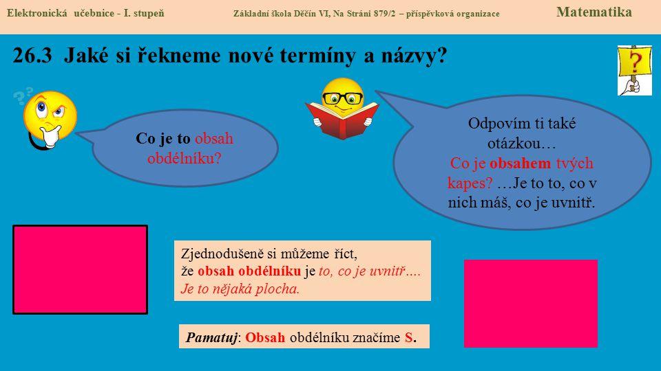 26.4 Co si řekneme nového.Elektronická učebnice - I.