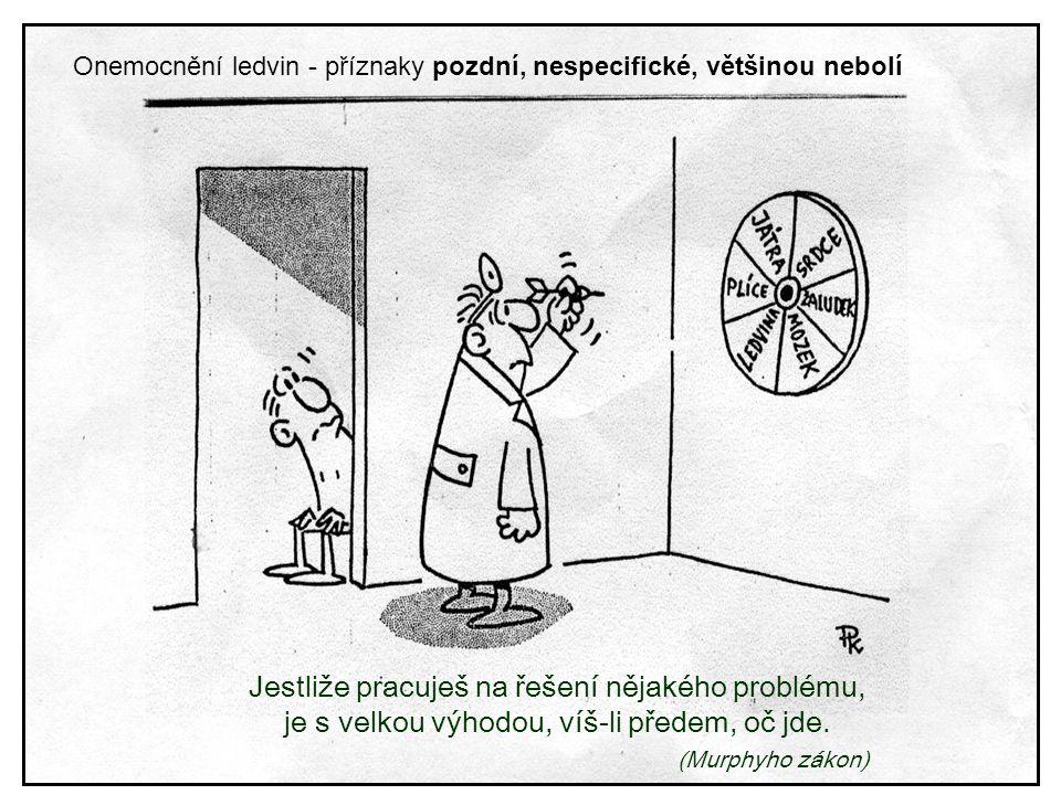 Jestliže pracuješ na řešení nějakého problému, je s velkou výhodou, víš-li předem, oč jde. (Murphyho zákon) Onemocnění ledvin - příznaky pozdní, nespe