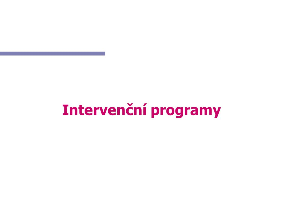 Intervenční programy