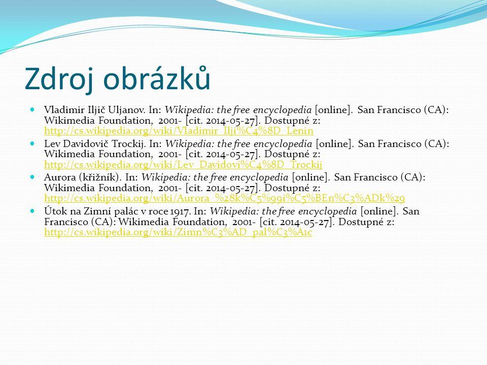 Zdroj obrázků Vladimir Iljič Uljanov.In: Wikipedia: the free encyclopedia [online].
