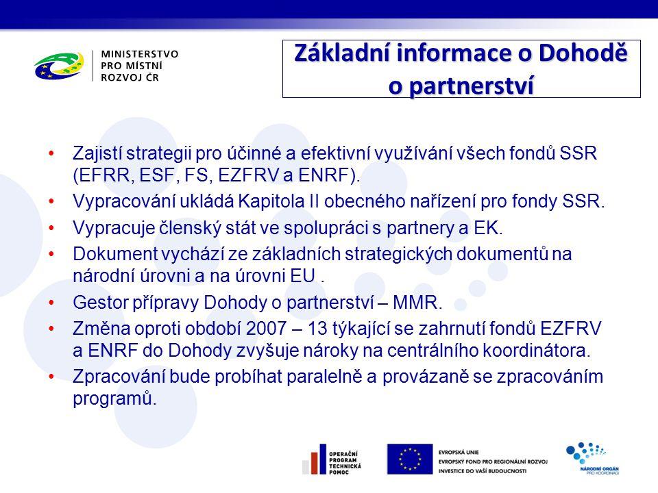 Zajistí strategii pro účinné a efektivní využívání všech fondů SSR (EFRR, ESF, FS, EZFRV a ENRF).