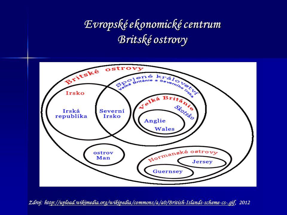 Evropské ekonomické centrum Britské ostrovy Zdroj: http://upload.wikimedia.org/wikipedia/commons/a/a0/British-Islands-scheme-cs-.gif, 2012tp://upload.wikimedia.org/wikipedia/commons/a/a0/British-Islands-scheme-cs-.gif