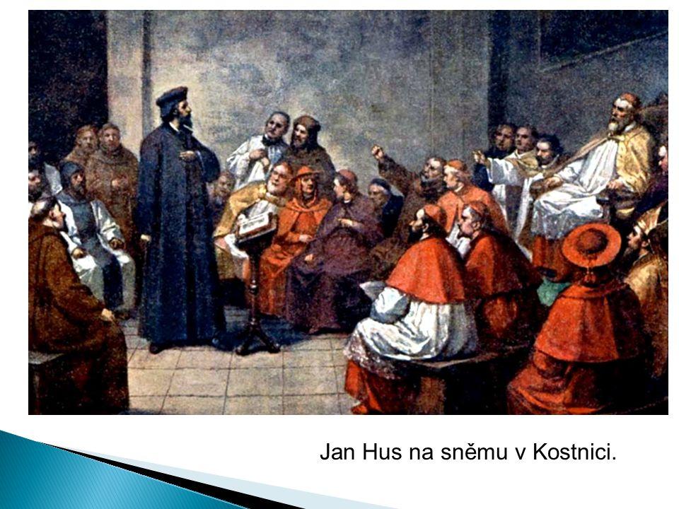 Jan Hus před koncilem 6. července 1415.
