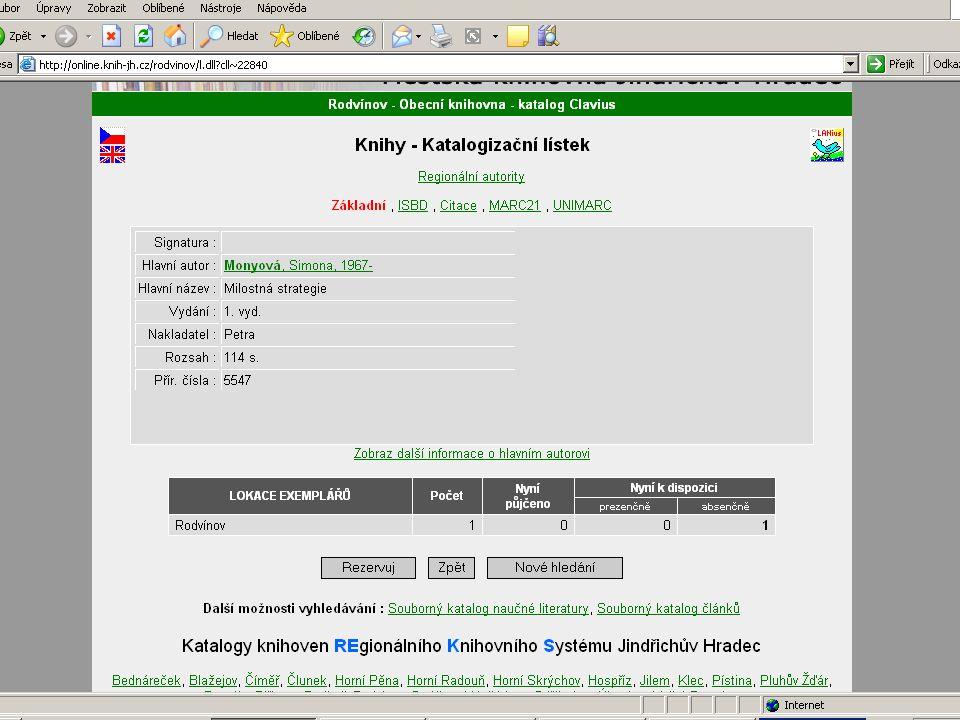 Současná automatizace knihoven regionu AKS Clavius ReKS 21 knihoven AKS LANius 4 knihovny AKS Clavius 3 knihovny Výhled do roku 2010  Počet automatizovaných knihoven 35-40