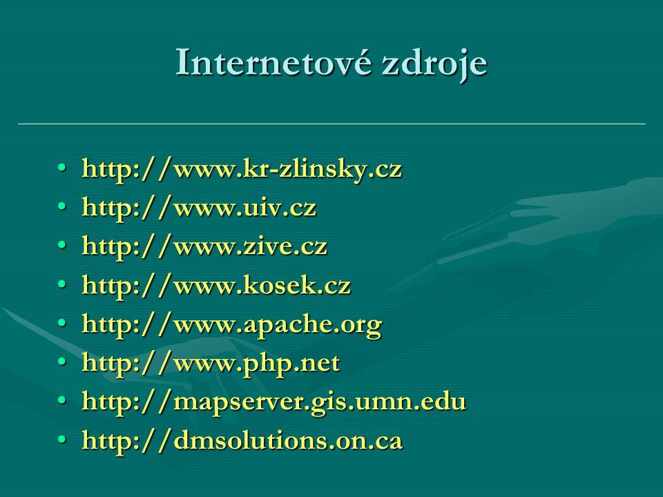 Internetové zdroje http://www.kr-zlinsky.czhttp://www.kr-zlinsky.cz http://www.uiv.czhttp://www.uiv.cz http://www.zive.czhttp://www.zive.cz http://www
