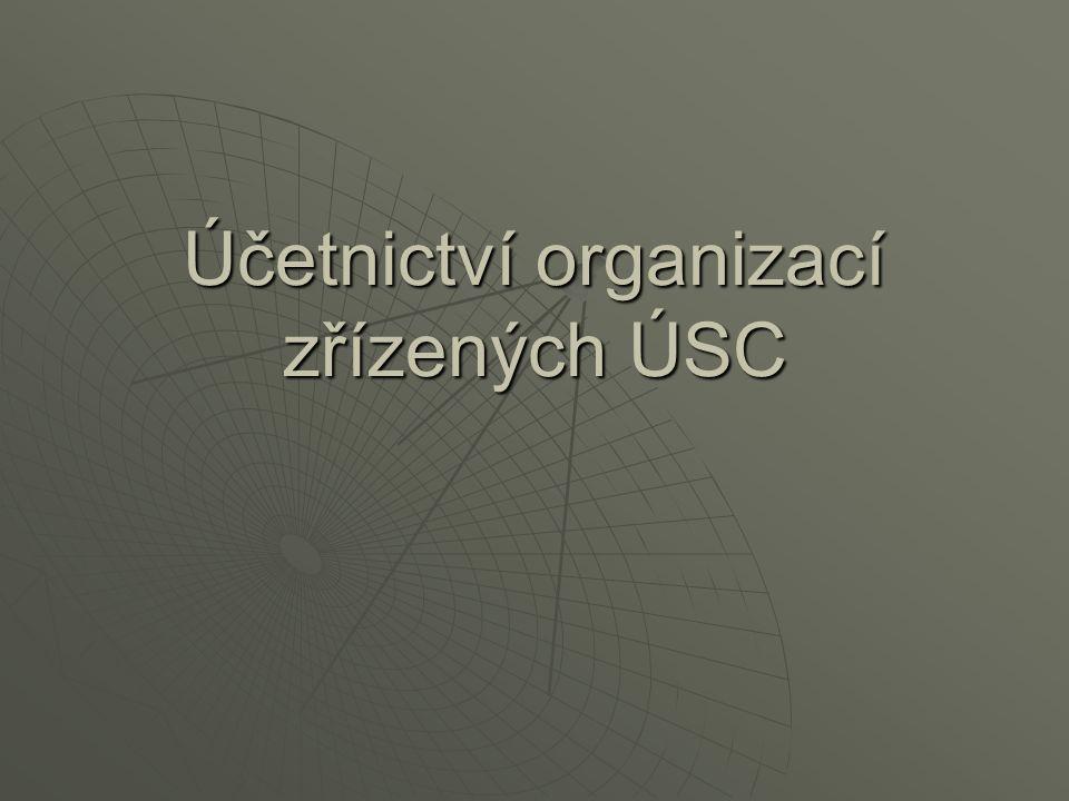 Příklad – účtování o FKSP (prostředky jsou soustředěny na běžném účtu PO) Účetní případKčMDDal Příděl do FKSP – zákonem uznatelný náklad10 000527912 Převod prostředků na účet FKSP10 000262241 Přijetí prostředků na účtu FKSP10 000243262 Poskytnutí příspěvku na rekreaci zaměstnance2 000912243 Nákup materiálu z prostředků FKSP (způsob A) - faktura600111321 Zaplacení faktury z prostředků fondu600321243 Přijetí materiálu na sklad600112111 Výdej materiálu do spotřeby600912112 Poskytnutí půjčky zaměstnanci z FKSP30 000335243 Přijetí splátky od zaměstnance na účet FKSP5 000243335 Nákup dlouhodobého majetku z prostředků FKSP - faktura60 000042321 Zaplacení faktury60 000321243 Zařazení majetku do užívání60 00002x042 Tvorba zdrojů k dlouhodobému majetku60 000912901
