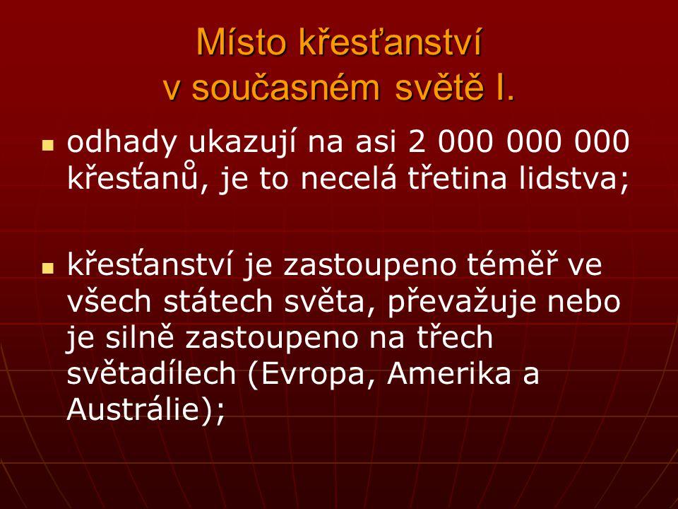 Ekumenické hnutí - potíže Po počátečním rozběhu kolem poloviny 20.
