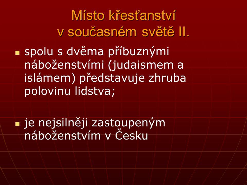 Společné prvky křesťanství Společné prvky křesťanství VÍRA I.