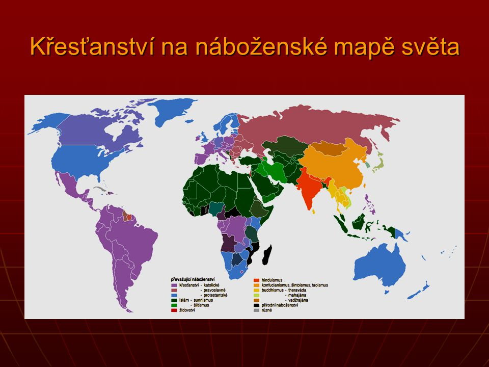 Křesťanství na náboženské mapě světa