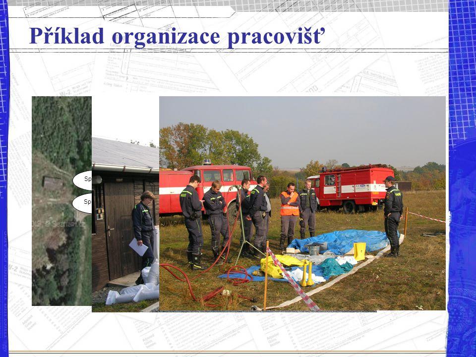 Příklad organizace pracovišť Povodně II Stany I Zdrav. I+II EC I+II Evakuace II Škodliviny I Evakuace I Stany II Škodliviny II Spojení I Spojení II Po