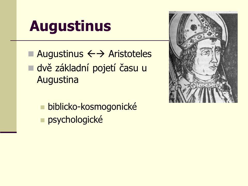 Augustinus Augustinus  Aristoteles dvě základní pojetí času u Augustina biblicko-kosmogonické psychologické