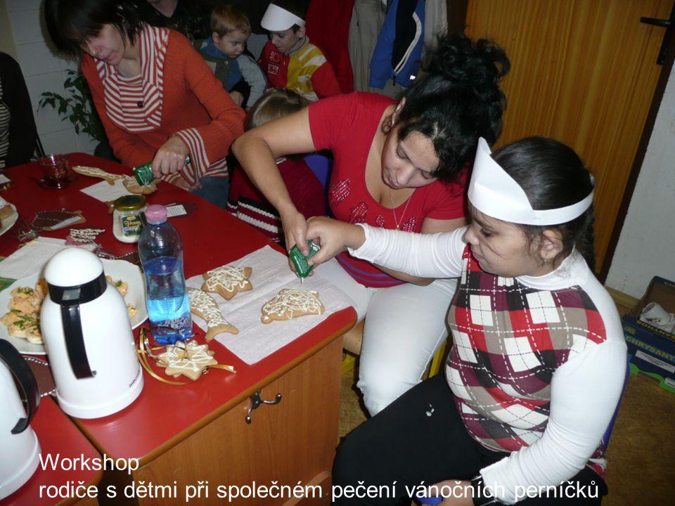 Workshop rodiče s dětmi při společném pečení vánočních perníčků