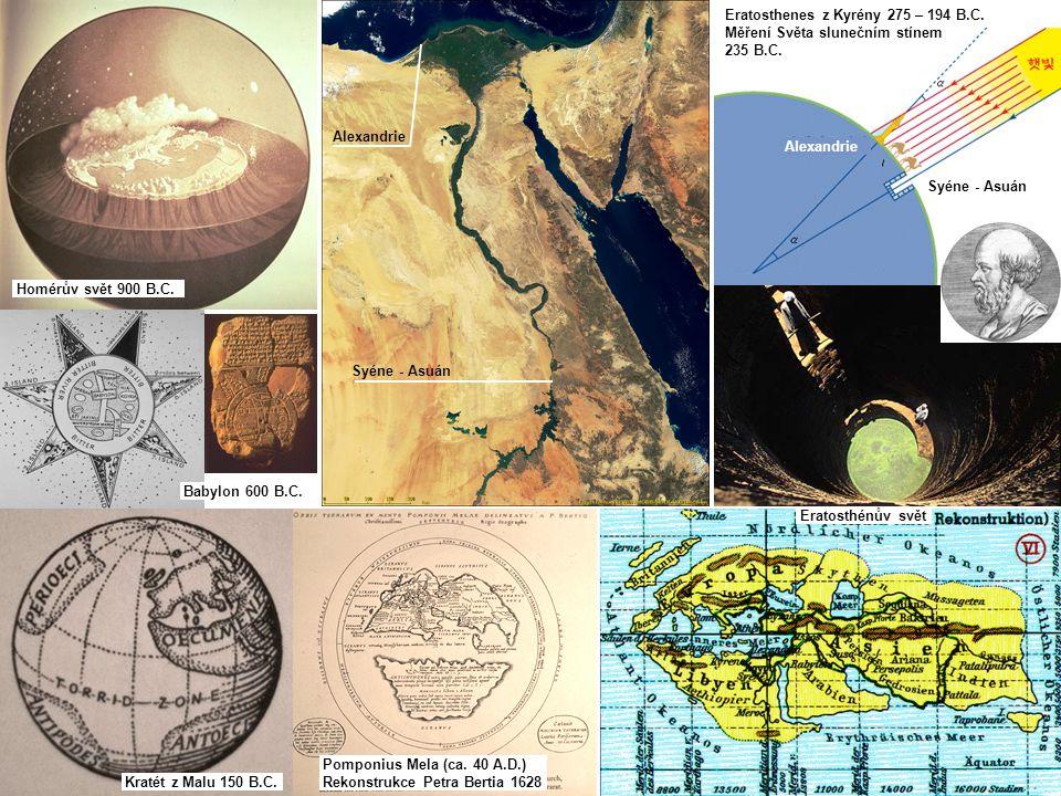 Pomponius Mela (ca. 40 A.D.) Rekonstrukce Petra Bertia 1628 Homérův svět 900 B.C.