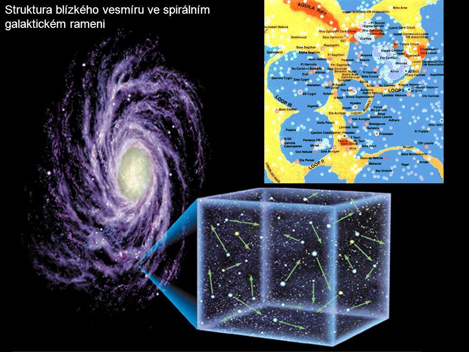 Struktura blízkého vesmíru ve spirálním galaktickém rameni