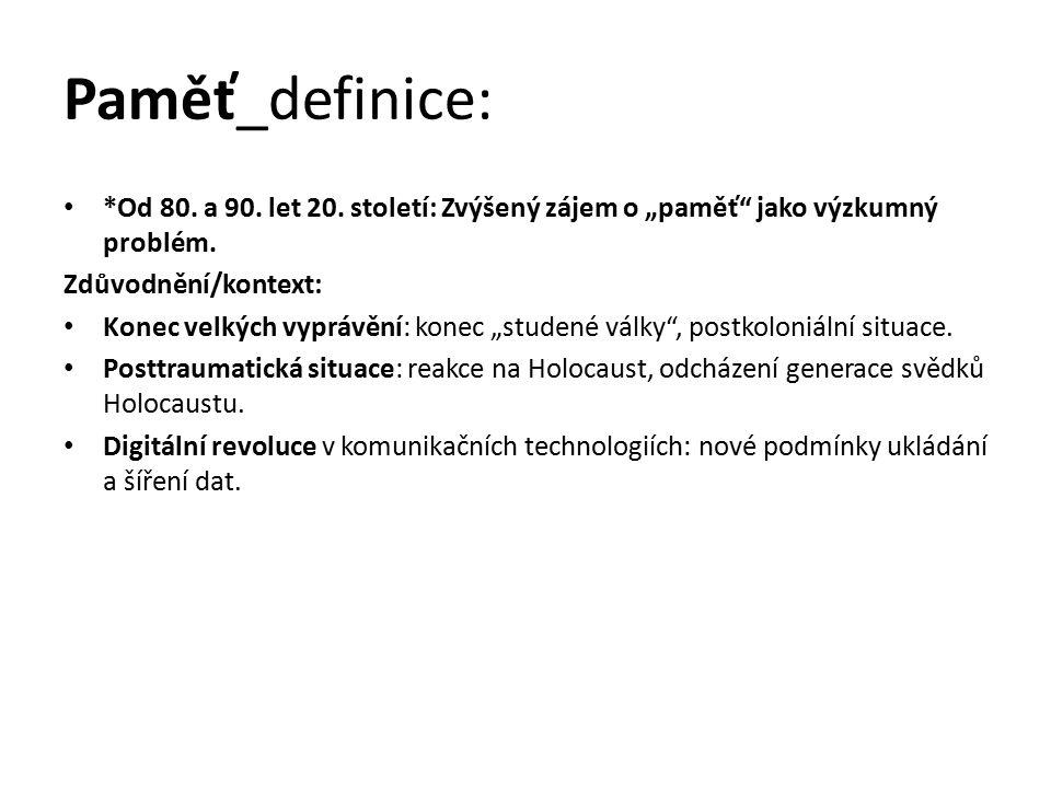 Paměť_definice: Taxonomie paměti: Tradiční dělení: Individuální vs.