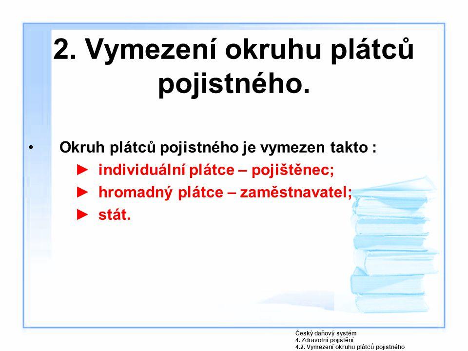 3.Povinnosti plátců pojistného.