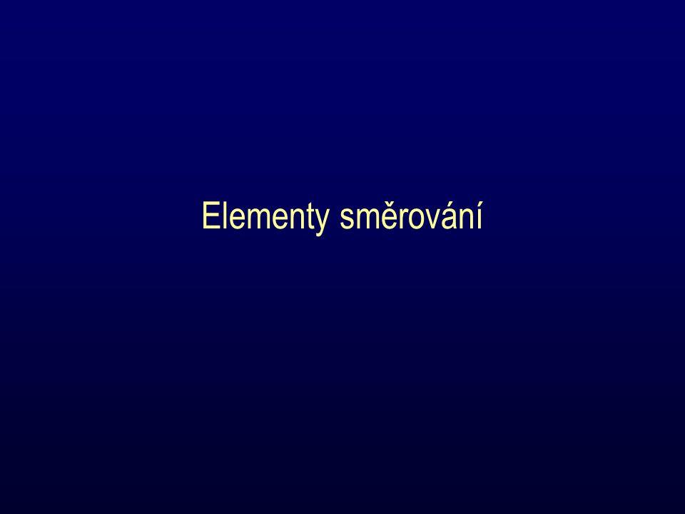 Elementy směrování