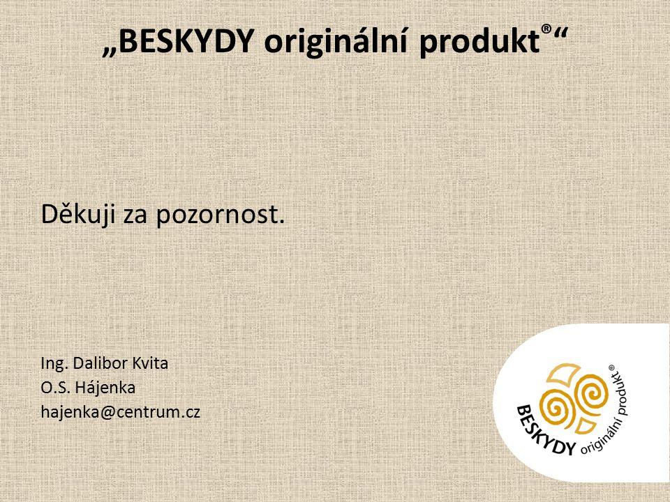 """""""BESKYDY originální produkt ® Děkuji za pozornost."""