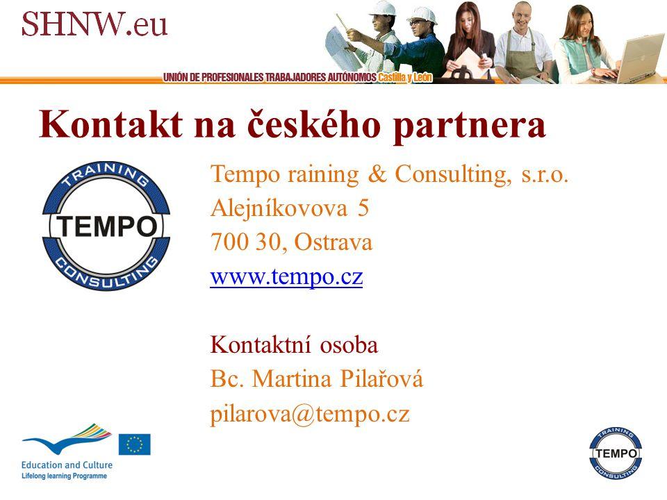 Kontakt na českého partnera Tempo raining & Consulting, s.r.o.