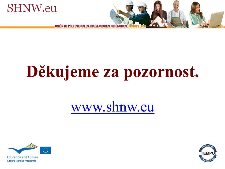 Děkujeme za pozornost. www.shnw.eu