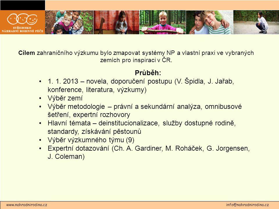 Cílem zahraničního výzkumu bylo zmapovat systémy NP a vlastní praxi ve vybraných zemích pro inspiraci v ČR.