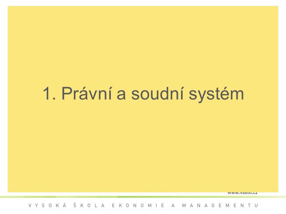 1. Právní a soudní systém