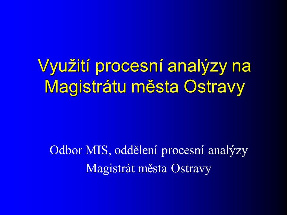 Využití procesní analýzy na Magistrátu města Ostravy Odbor MIS, oddělení procesní analýzy Magistrát města Ostravy
