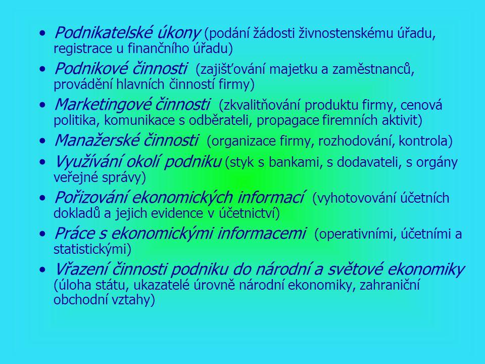 2) Funkce ekonomického vzdělání pro ekonomické profese Rozsah ekonomického vzdělání Šířka ekonomického vzdělání (rozmanitost ekonomických poznatků a okruhů tématiky, konstituování ekonomických předmětů) Hloubka ekonomického vzdělání (podrobnosti poznatků, stupeň jejich zvládnutí požadovaného hospodářskou praxí, diferenciace podle profesí)