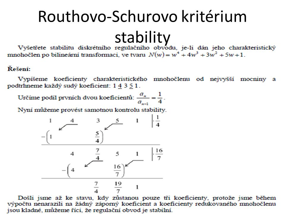 Routhovo-Schurovo kritérium stability