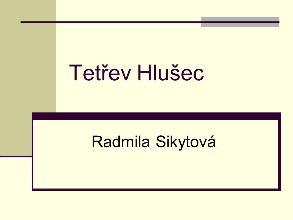 Tetřev Hlušec Radmila Sikytová