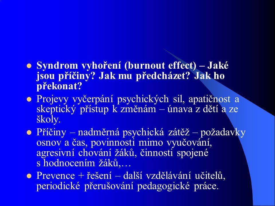 Syndrom vyhoření (burnout effect) – Jaké jsou příčiny? Jak mu předcházet? Jak ho překonat? Projevy vyčerpání psychických sil, apatičnost a skeptický p