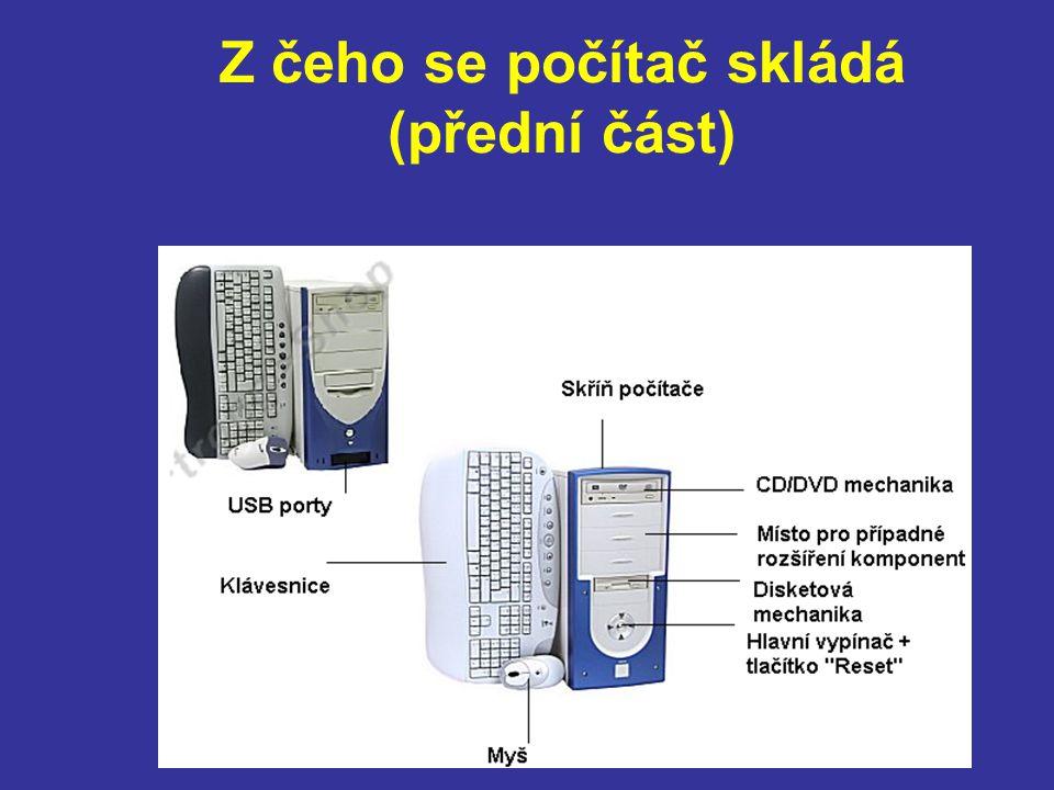 Z čeho se počítač skládá (zadní část)