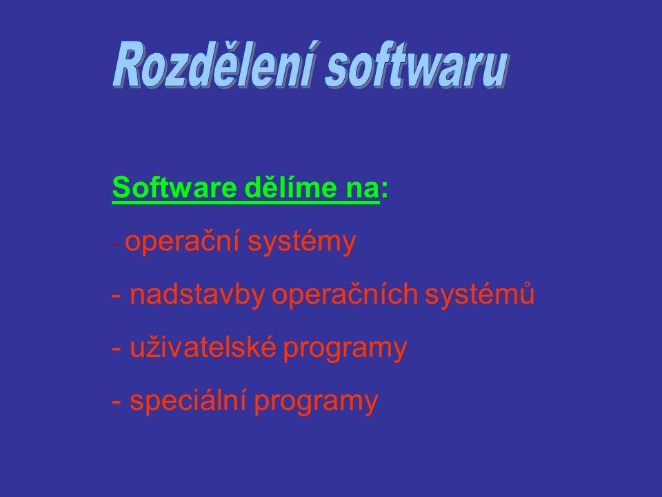 """Operační systémy - je to """"základní program , který komunikuje s ostatními programy a zajišťuje jejich funkci."""