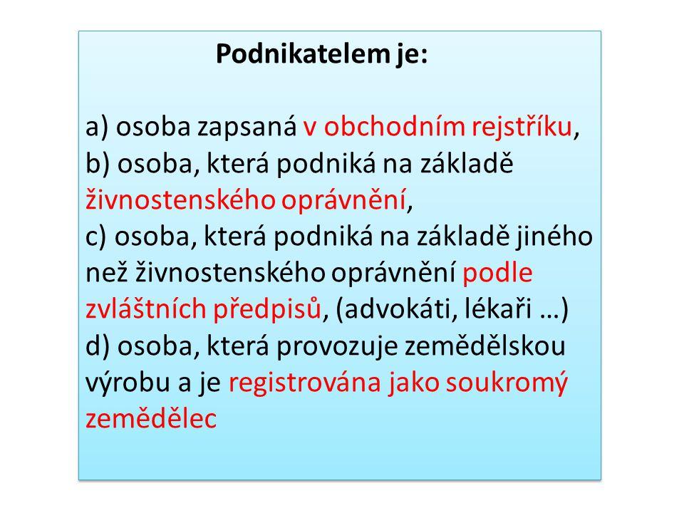 Podnikat může: Fyzická osoba (FO) je občan našeho státu nebo cizinec, který má způsobilost k právům a povinnostem (vzniká narozením občana ČR) a který má způsobilost k právním úkonům (od 18 let).