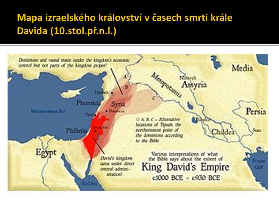  monoteické náboženství  bůh Jahve (JHWH)  vzniklo ve 2.tisíciletí př.n.l.