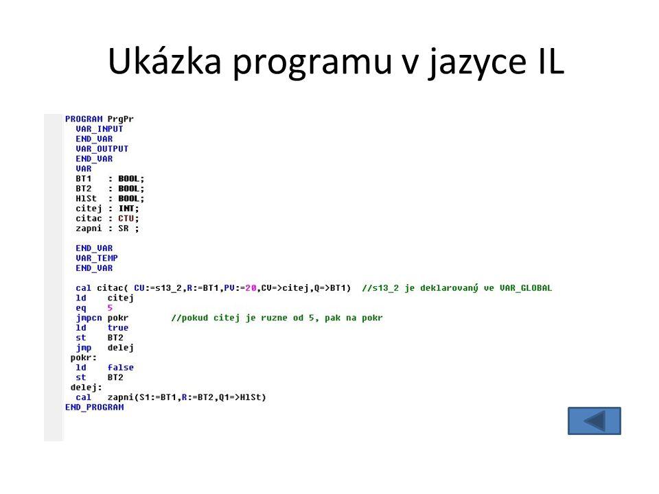 Ukázka programu v jazyce IL