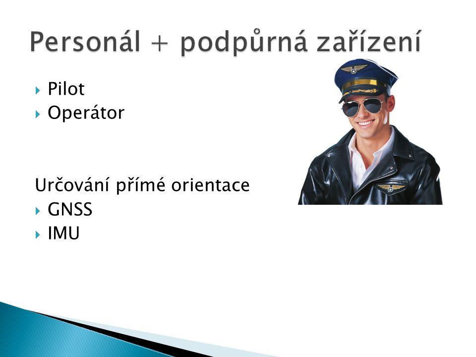  Pilot  Operátor Určování přímé orientace  GNSS  IMU