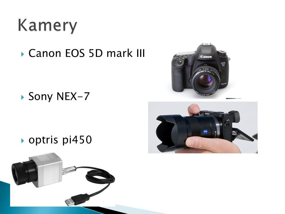  Canon EOS 5D mark III  Sony NEX-7  optris pi450
