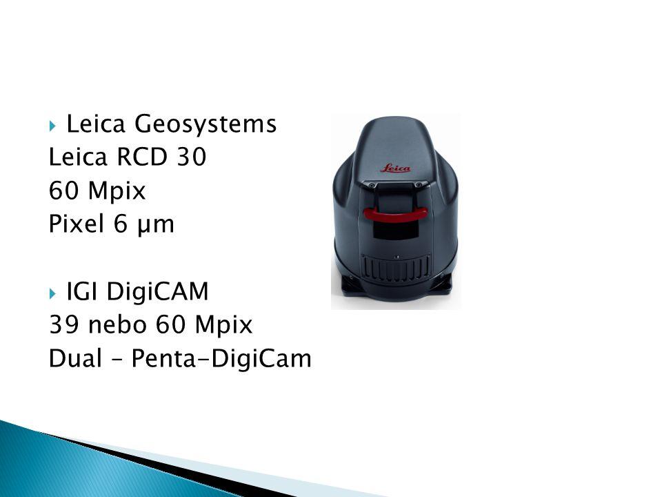 Leica Geosystems Leica RCD 30 60 Mpix Pixel 6 µm  IGI DigiCAM 39 nebo 60 Mpix Dual – Penta-DigiCam