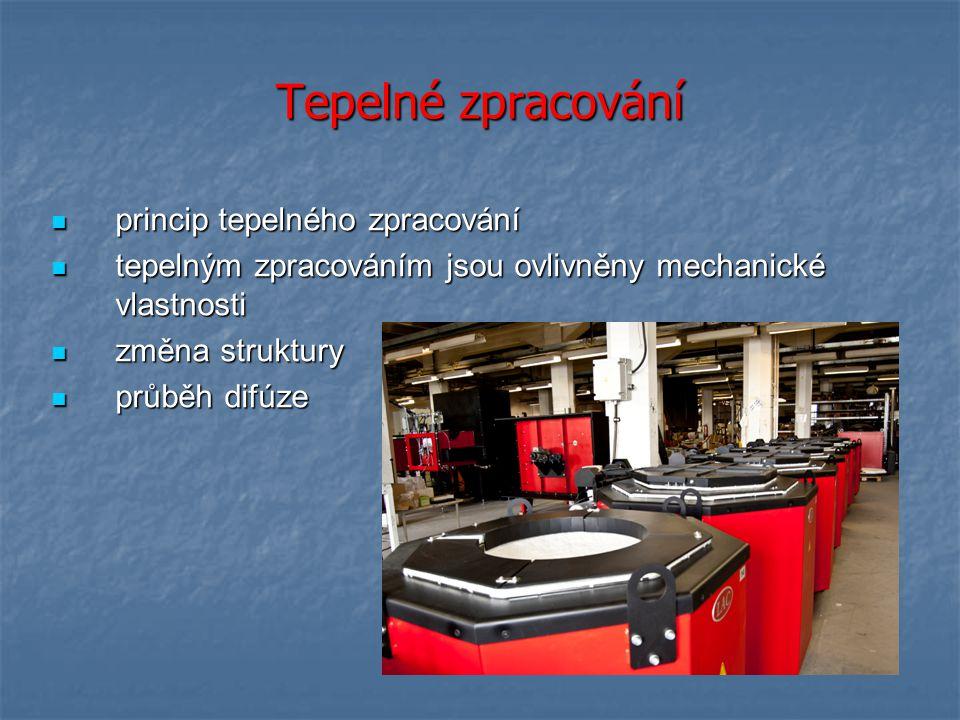Tepelné zpracování princip tepelného zpracování princip tepelného zpracování tepelným zpracováním jsou ovlivněny mechanické vlastnosti tepelným zpraco