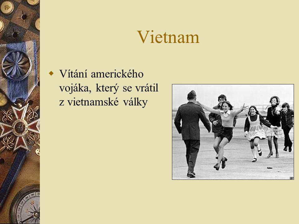 Vietnam  Vítání amerického vojáka, který se vrátil z vietnamské války