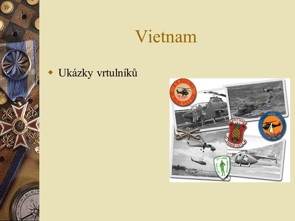 Vietnam  Ukázky vrtulníků