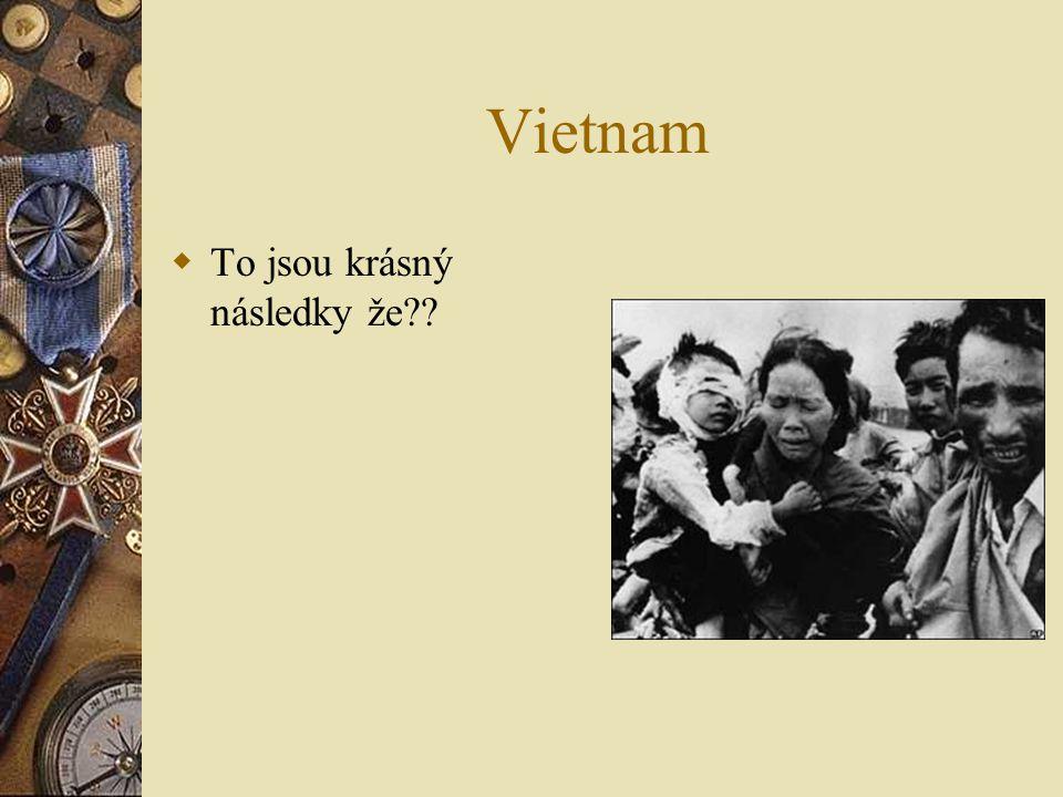 Vietnam  To jsou krásný následky že??