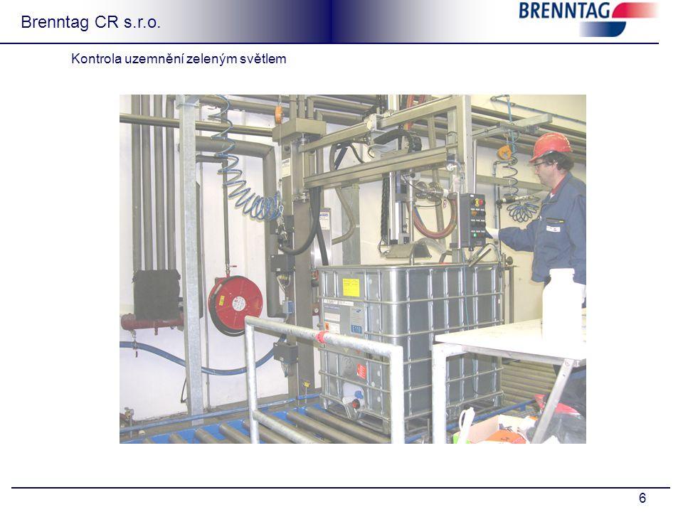6 Brenntag CR s.r.o. Kontrola uzemnění zeleným světlem