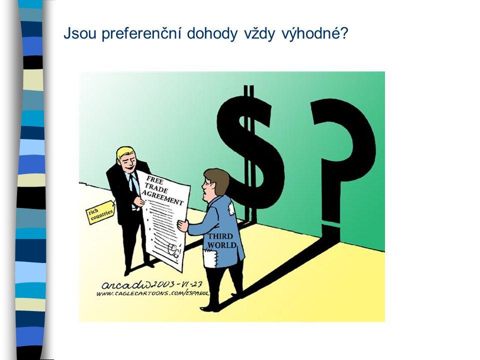 Jsou preferenční dohody vždy výhodné?