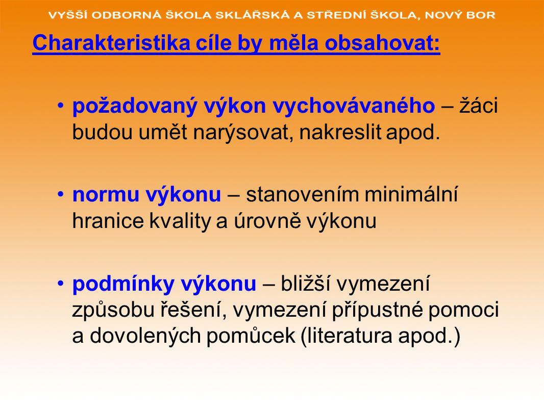 POUŽITÉ ZDROJE: www.glassschool.cz KALHOUS, Z.a OBST, O.: Školní didaktika.