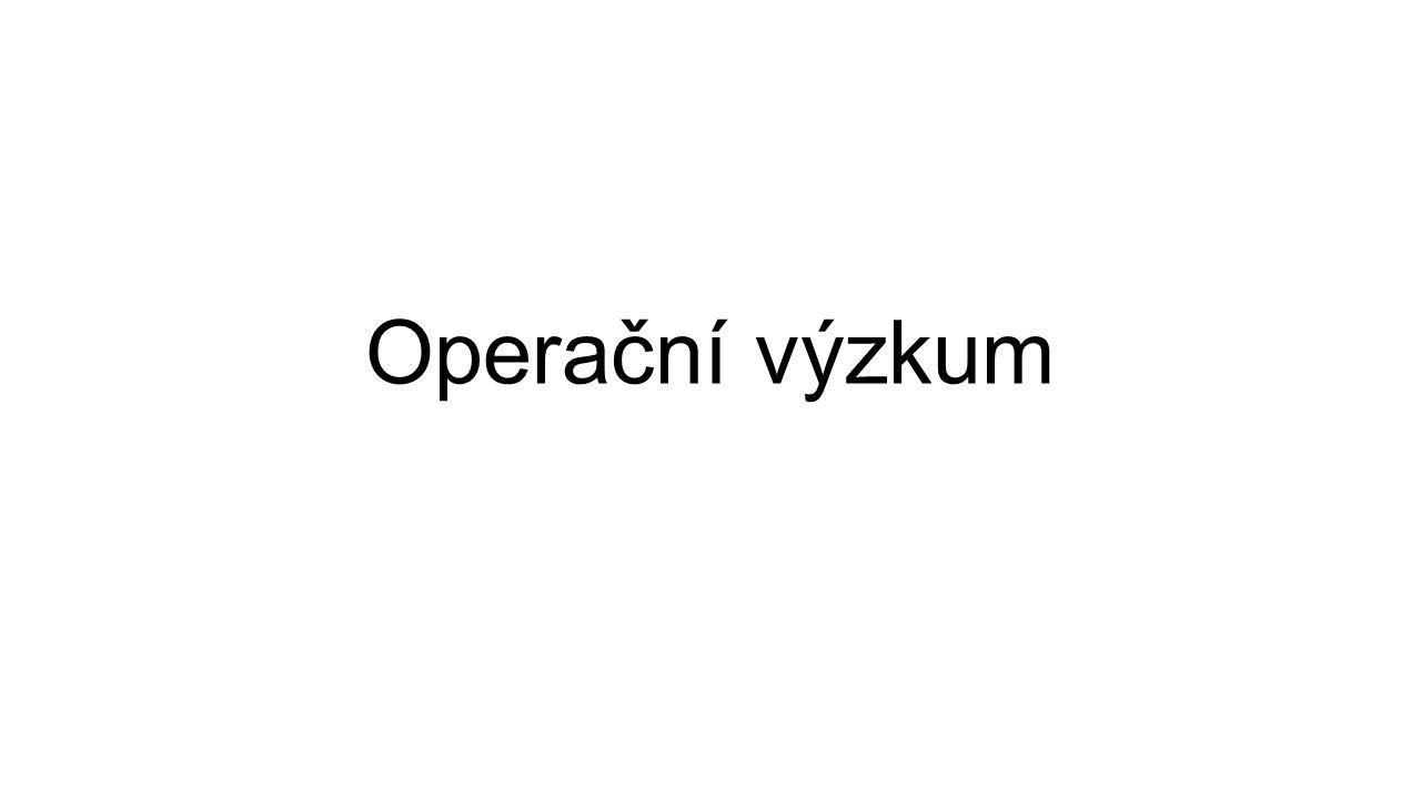 Operační výzkum